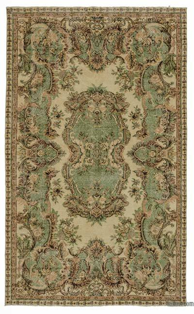"""Turkish Vintage Area Rug - 5' 5"""" x 8' 11"""" (65 in. x 107 in.)"""