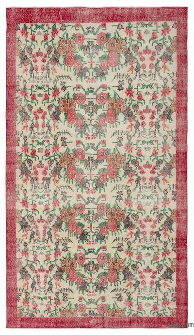 "Turkish Vintage Area Rug - 5'4"" x 9'3"" (64 in. x 111 in.)"