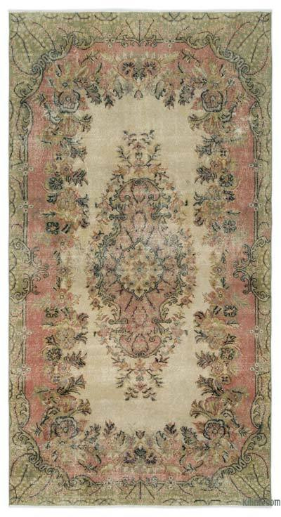 "Turkish Vintage Area Rug - 5'3"" x 9'6"" (63 in. x 114 in.)"