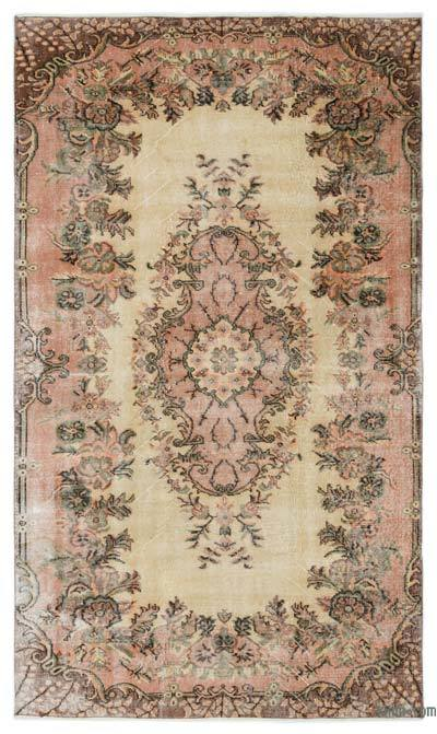 "Turkish Vintage Area Rug - 4'11"" x 8'6"" (59 in. x 102 in.)"