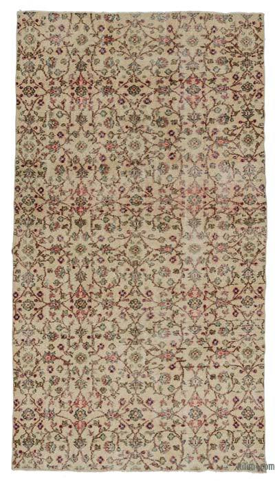 "Turkish Vintage Area Rug - 4' 7"" x 8' 7"" (55 in. x 103 in.)"