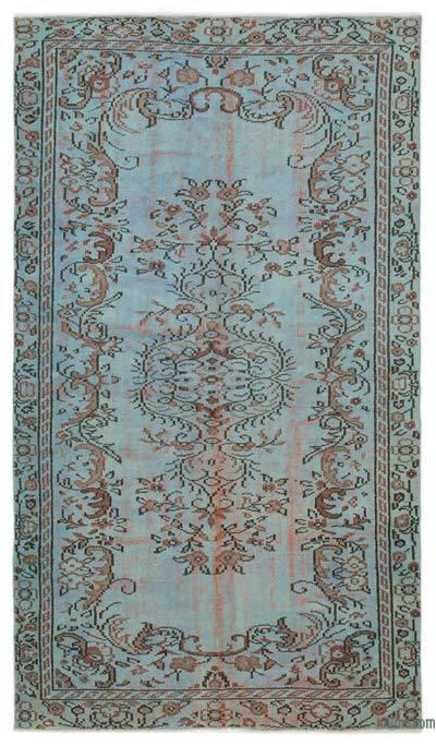Alfombra Turca Vintage Sobre-teñida - 145 cm x 250 cm