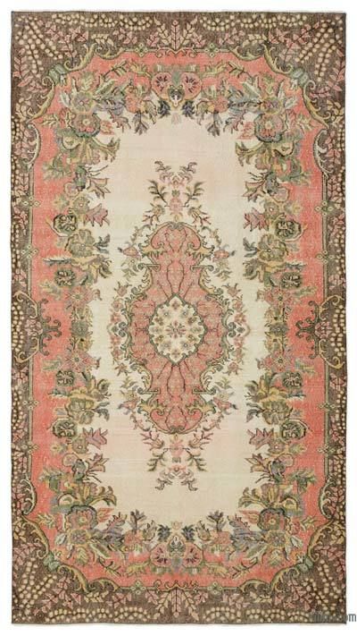 "Turkish Vintage Area Rug - 5'5"" x 9'10"" (65 in. x 118 in.)"