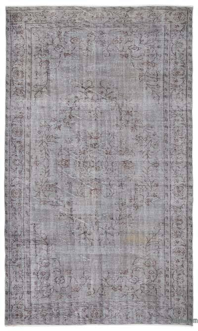 """Over-dyed Turkish Vintage Rug - 5' 9"""" x 10'  (69 in. x 120 in.)"""