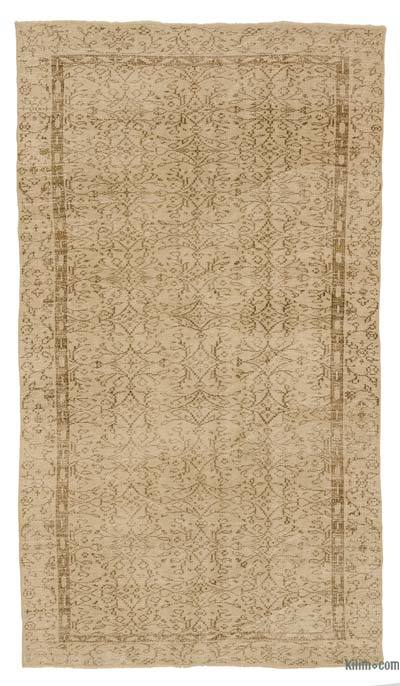 """Over-dyed Turkish Vintage Rug - 4' 9"""" x 8' 2"""" (57 in. x 98 in.)"""