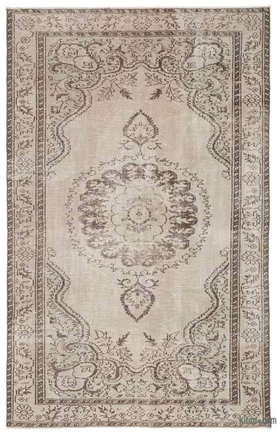 """Over-dyed Turkish Vintage Rug - 5'10"""" x 9'5"""" (70 in. x 113 in.)"""
