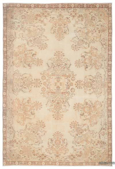 """Over-dyed Turkish Vintage Rug - 6'6"""" x 9'9"""" (78 in. x 117 in.)"""