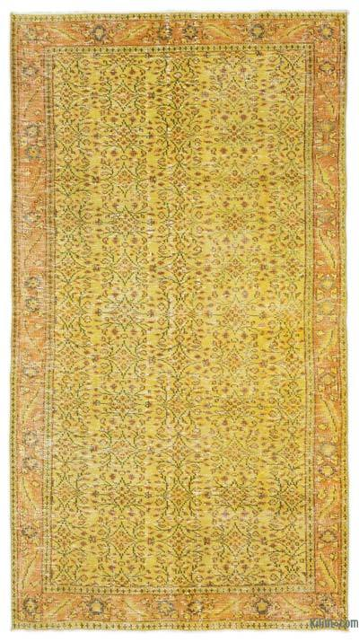 """Over-dyed Turkish Vintage Rug - 4' 10"""" x 8' 9"""" (58 in. x 105 in.)"""