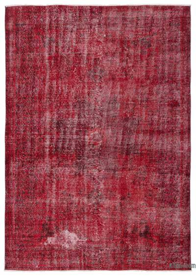 Alfombra Turca Vintage Sobre-teñida - 171 cm x 238 cm