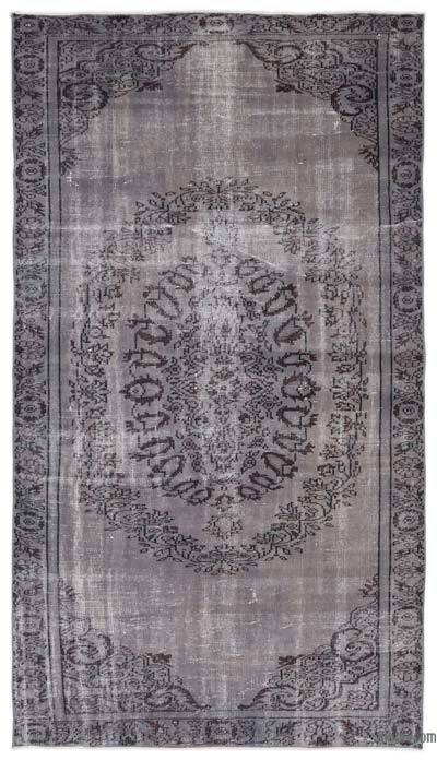 "Over-dyed Turkish Vintage Rug - 5'7"" x 9'3"" (67 in. x 111 in.)"