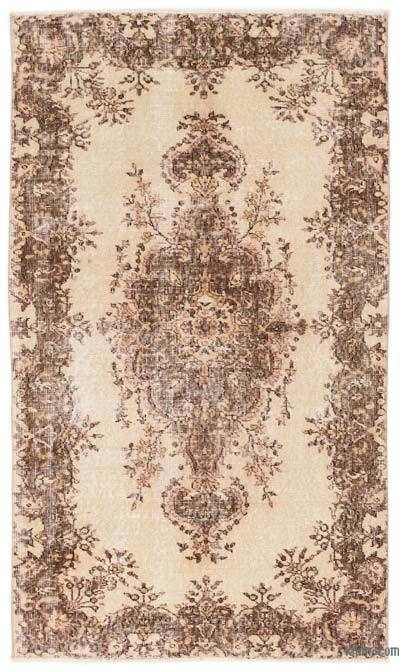 """Over-dyed Turkish Vintage Rug - 3'11"""" x 6'9"""" (47 in. x 81 in.)"""