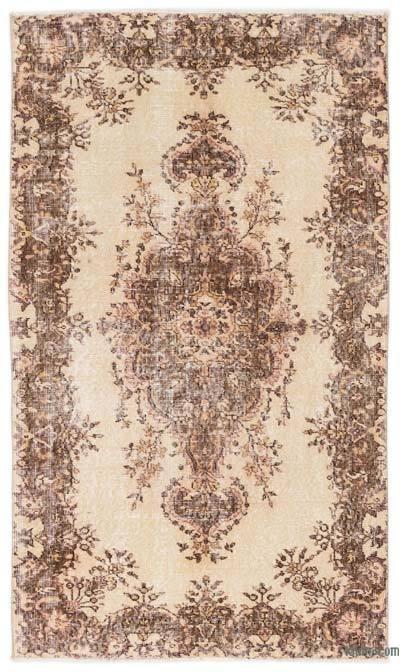 Boyalı El Dokuma Vintage Halı - 120 cm x 205 cm