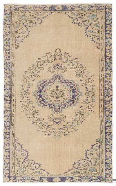 """Over-dyed Turkish Vintage Rug - 4'4"""" x 7'2"""" (52 in. x 86 in.)"""