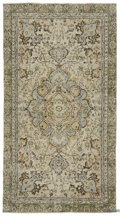 "Turkish Vintage Area Rug - 4'8"" x 8'9"" (56 in. x 105 in.)"