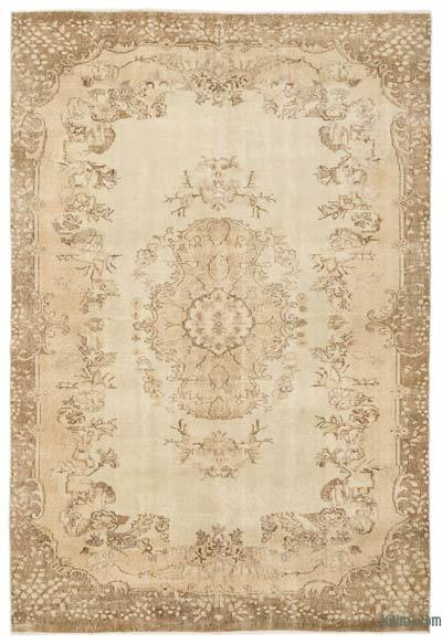 """Over-dyed Turkish Vintage Rug - 6' 10"""" x 10'  (82 in. x 120 in.)"""