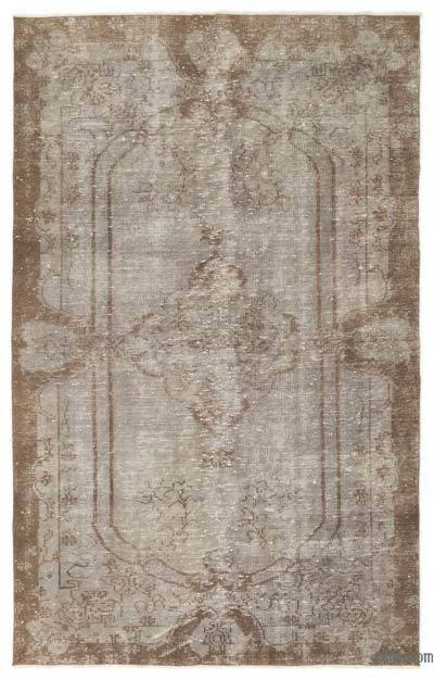 """Over-dyed Turkish Vintage Rug - 5'2"""" x 8'3"""" (62 in. x 99 in.)"""