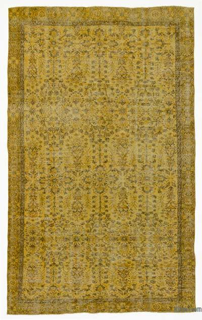 "Over-dyed Turkish Vintage Rug - 5' 8"" x 9' 9"" (68 in. x 117 in.)"