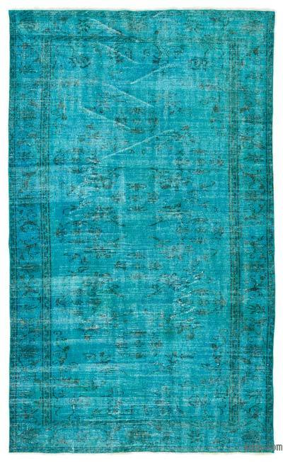 """Over-dyed Turkish Vintage Rug - 4' 6"""" x 7' 9"""" (54 in. x 93 in.)"""