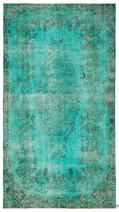 "Over-dyed Turkish Vintage Rug - 5'1"" x 9'5"" (61 in. x 113 in.)"