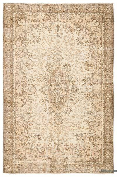 """Over-dyed Turkish Vintage Rug - 6' 4"""" x 9' 4"""" (76 in. x 112 in.)"""