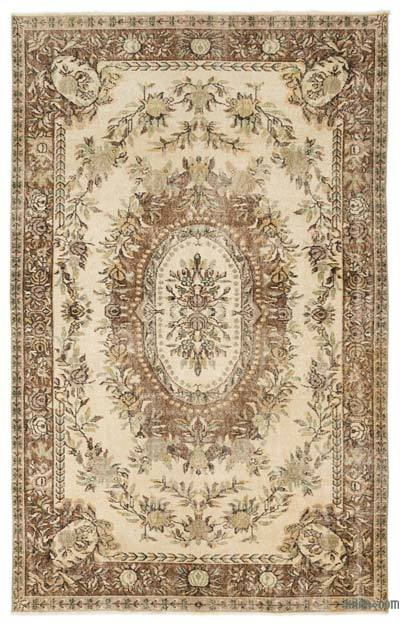 "Over-dyed Turkish Vintage Rug - 5'7"" x 8'9"" (67 in. x 105 in.)"