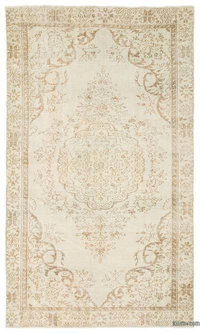 "Over-dyed Turkish Vintage Rug - 5'6"" x 9'5"" (66 in. x 113 in.)"