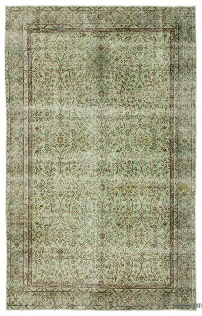 "Over-dyed Turkish Vintage Rug - 6' 1"" x 9' 8"" (73 in. x 116 in.)"
