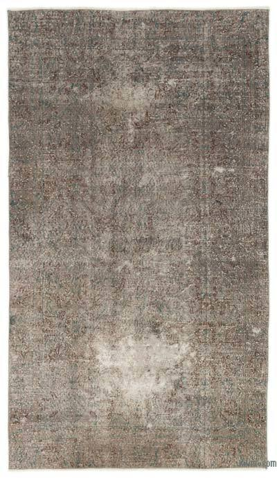 "Over-dyed Turkish Vintage Rug - 4'4"" x 7'7"" (52 in. x 91 in.)"