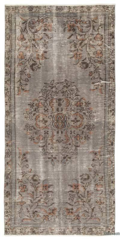 """Over-dyed Turkish Vintage Rug - 3'8"""" x 6'11"""" (44 in. x 83 in.)"""