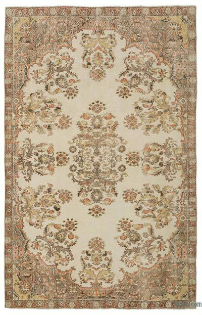 """Turkish Vintage Area Rug - 6'4"""" x 9'10"""" (76 in. x 118 in.)"""