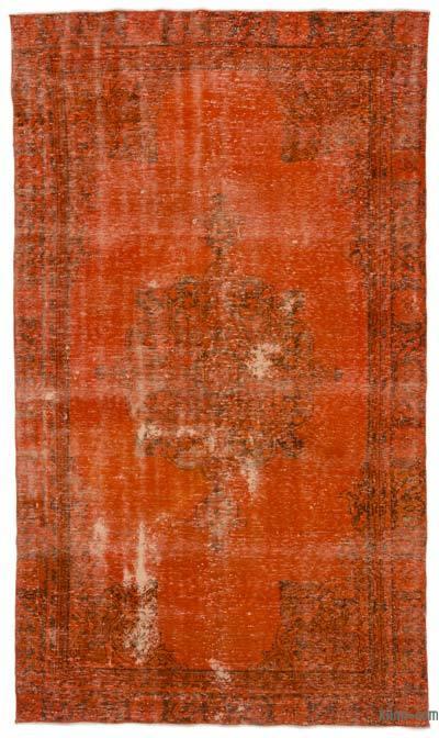 Boyalı El Dokuma Vintage Halı - 187 cm x 321 cm