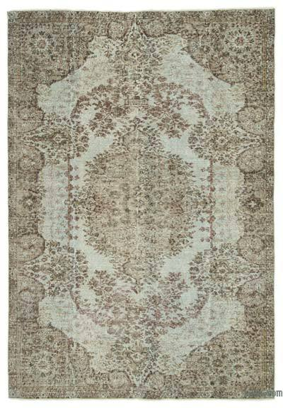 """Over-dyed Turkish Vintage Rug - 5'9"""" x 8'3"""" (69 in. x 99 in.)"""