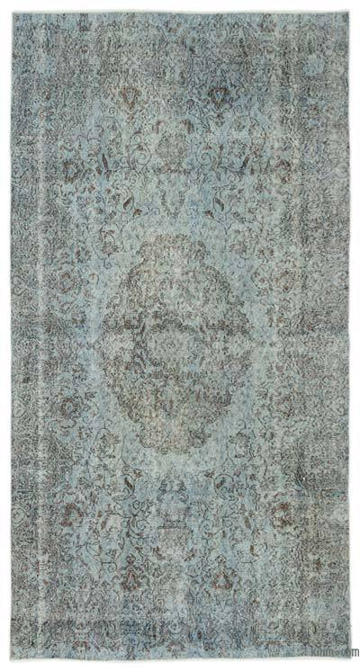 """Over-dyed Turkish Vintage Rug - 5'3"""" x 9'11"""" (63 in. x 119 in.)"""