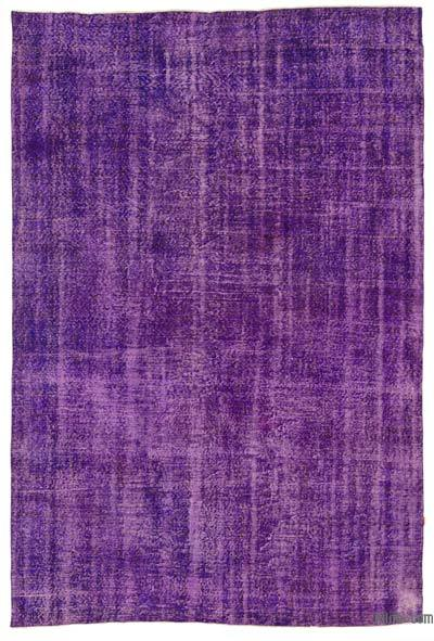 "Purple Over-dyed Turkish Vintage Rug - 7'  x 10' 7"" (84 in. x 127 in.)"