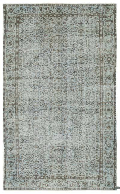 """Over-dyed Turkish Vintage Rug - 5' 8"""" x 9' 4"""" (68 in. x 112 in.)"""