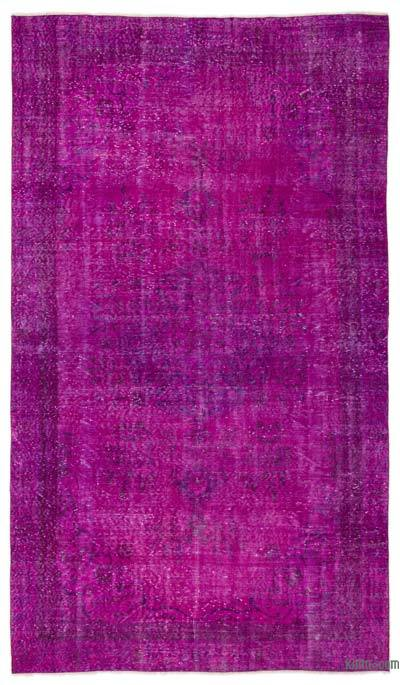 """Over-dyed Turkish Vintage Rug - 5'6"""" x 9'9"""" (66 in. x 117 in.)"""