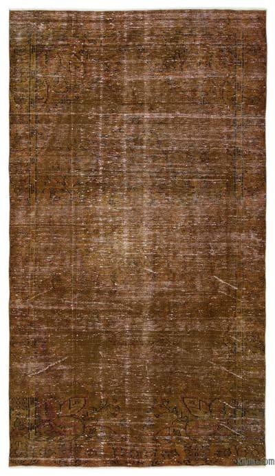 "Over-dyed Turkish Vintage Rug - 4'11"" x 8'9"" (59 in. x 105 in.)"