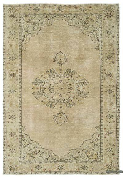 """Over-dyed Turkish Vintage Rug - 5' 11"""" x 8' 11"""" (71 in. x 107 in.)"""