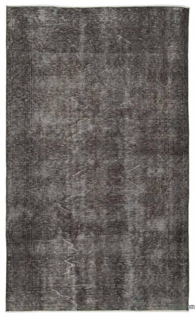 Boyalı El Dokuma Vintage Halı - 167 cm x 280 cm