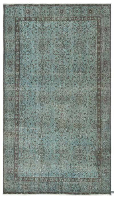 "Over-dyed Turkish Vintage Rug - 4'8"" x 8'3"" (56 in. x 99 in.)"