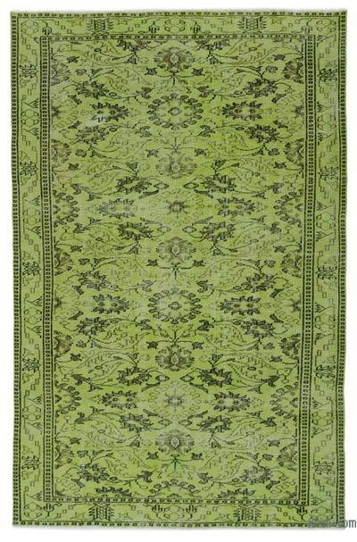 "Over-dyed Turkish Vintage Rug - 5' 7"" x 8' 5"" (67 in. x 101 in.)"