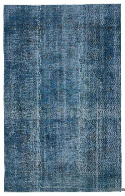 """Over-dyed Turkish Vintage Rug - 5' 6"""" x 8' 7"""" (66 in. x 103 in.)"""