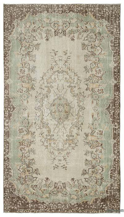 """Over-dyed Turkish Vintage Rug - 5'6"""" x 9'10"""" (66 in. x 118 in.)"""