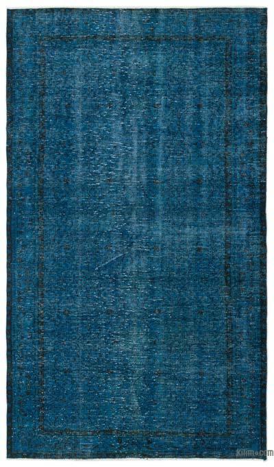 Boyalı El Dokuma Vintage Halı - 151 cm x 263 cm