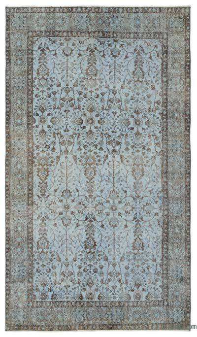 """Over-dyed Turkish Vintage Rug - 5' x 8'10"""" (60 in. x 106 in.)"""