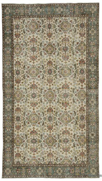 """Turkish Vintage Area Rug - 5' 7"""" x 10' 1"""" (67 in. x 121 in.)"""