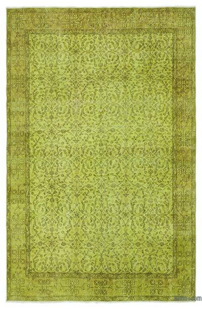 """Over-dyed Turkish Vintage Rug - 5' 3"""" x 8'  (63 in. x 96 in.)"""
