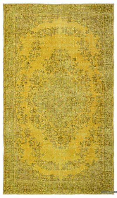 """Over-dyed Turkish Vintage Rug - 6' x 10'1"""" (72 in. x 121 in.)"""