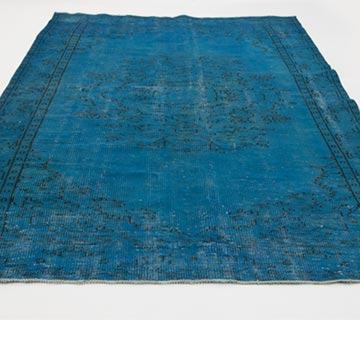 Over-dyed Turkish Vintage Rug - 5' 9# x 9' 4# (69 in. x 112 in.) - K0024054