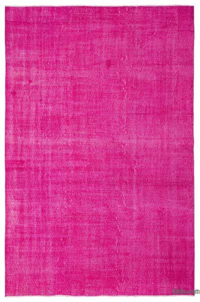 """Over-dyed Turkish Vintage Rug - 6'9"""" x 10'4"""" (81 in. x 124 in.)"""